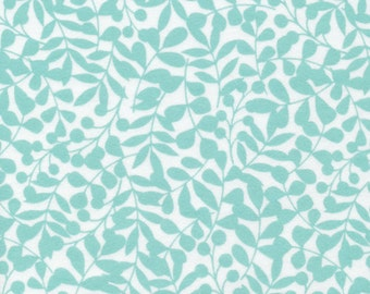 Cloud9 Organic Fabrics - First Light - Branch Turquoise Flannel 1/2 YD