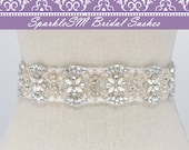 Bridal sash, Wedding sash, Bridal belt, Crystal Sash, Rhinestone Sash, Jeweled Belt, Bridal Belt, Wedding Gown Belt Bridal Sash, Charlotte