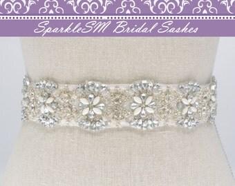 Bridal sash, Wedding sash, Bridal belt, Crystal Sash, Rhinestone Sash, Jeweled Belt, Bridal Belt, Wedding Gown Belt Bridal Sash, Charlotte