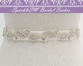 Crystal Bridal Sash, Rhinestone Belt, Wedding Sash, Jeweled Bridal Sash, Bridesmaids Sash, Bridal Dress Sash, Bridal Belt, Crystal Belt