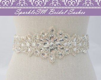 Bridal Sash Belt, Rhinestone Sash, Wedding Belt, Wedding Dress Sash, Statement Sash, Crystal Dress Sash, Pearl Bridal Sash, Bridal Belt