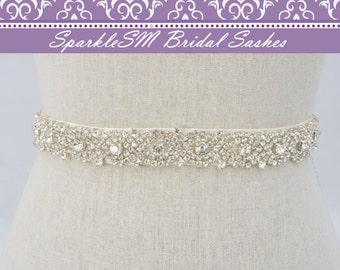 Crystal Sash, Prom Sash, Bridal Belt, Wedding Sash, Wedding Belt, Beaded Sash, Wedding Dress Belts, Beaded Belt Jeweled Sash Rhinestone Sash