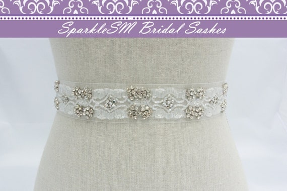 Bridal Belt, Bridal Belt Sash, Crystal Sash, Crystal Bridal Belt, White Bridal Sash, Wedding Sash, Prom Dress Sash, Rhinestone Sash