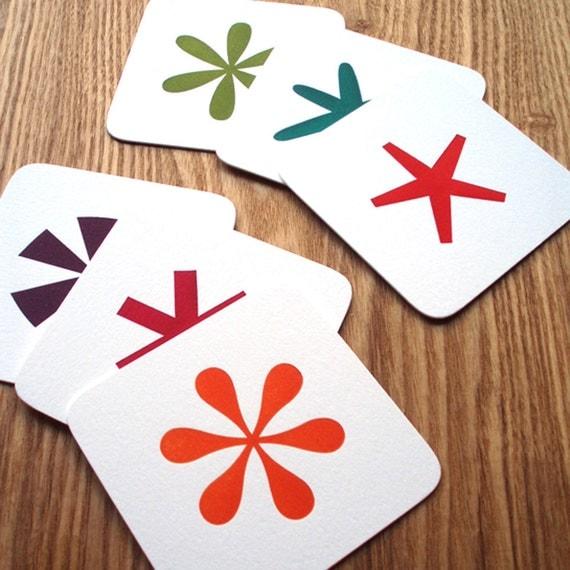 Letterpress Coasters - Asterisk Series