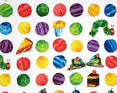 The Very Hungry Caterpillar Dessert Dots From Andover Fabrics by Eric Carle