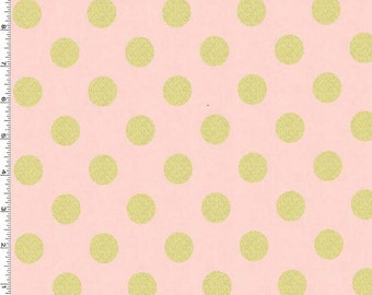 Glitz Blush Metallic Quarter Dots Pearlized Fabric From Michael Miller
