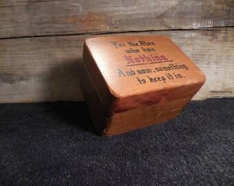 Vintage Wooden Gag Gift Box