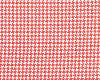 Fabric by the yard Michael Miller Tiny Houndstooth in Paprika 1 yard