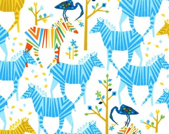 Michael Miller Fabric for quilt or craft Origami Oasis collection by Tamara Kate Show Your Colors in Blue Fat Quarter