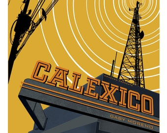 Calexico -  18x24 Limited edition screenprint. Montreal June 3 2015