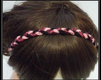 Boho Hippie Narrow Braided Crocheted Headband or Necklace!