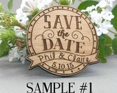 SAMPLE - Wedding Save the Date Magnets - Custom Engraved Wood Magnets