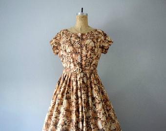 Vintage 1950s fruit print dress . 50s novelty print dress