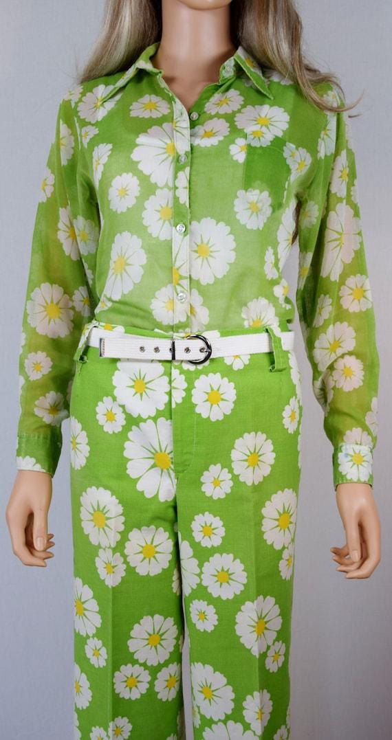 vintage 1970 39 s sears jr bazaar daisy maxi flower mod. Black Bedroom Furniture Sets. Home Design Ideas