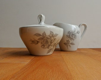Lidded Sugar Bowl and Creamer Yamaka Chateau Rose