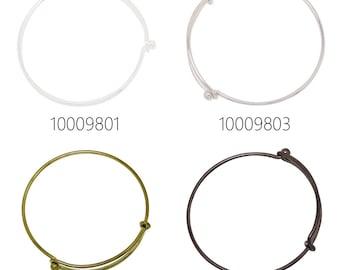 5PCS 2mm Expandable Bracelet Wire Bracelet Bangle Bracelet Charm Bracelet Adjustable Charm Bracelet Bangle 100098