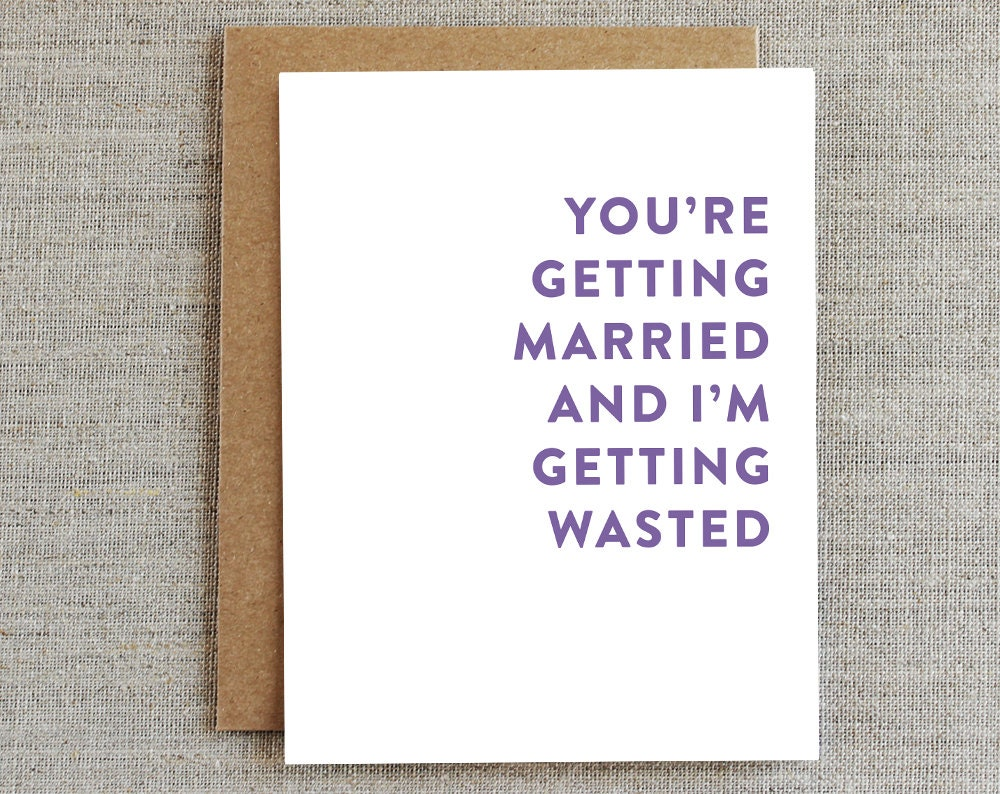 Funny Wedding Card Funny Marriage Card Funny Congratulations