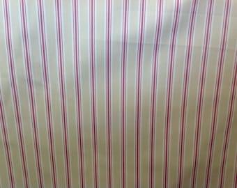 Fryetts sorbet bay stripe cotton curtain fabric by the half metre
