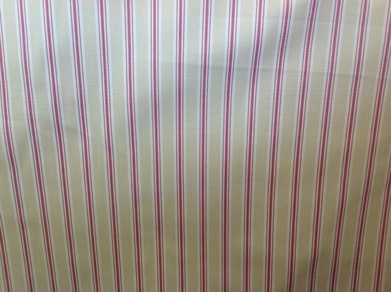 Fryetts sorbet bay stripe cotton curtain fabric by the for Childrens curtain fabric by the metre