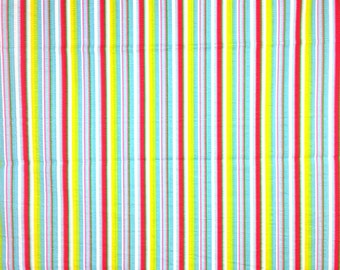 1 and a third yard cotton blend, Tutti Fruitti , multicolor stripes , rainbow