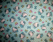 Hello Kitty Flannel Fabric Priced By The Yard