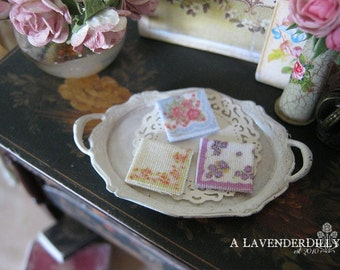 A Ladies Handkerchief for Dollhouse Miniature, chose your colour preference.