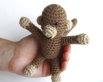 Crochet monkey, stuffed monkey, toy monkey, stuffed animal, monkey plush, monkey baby shower, baby shower gift, monkey theme, crochet animal
