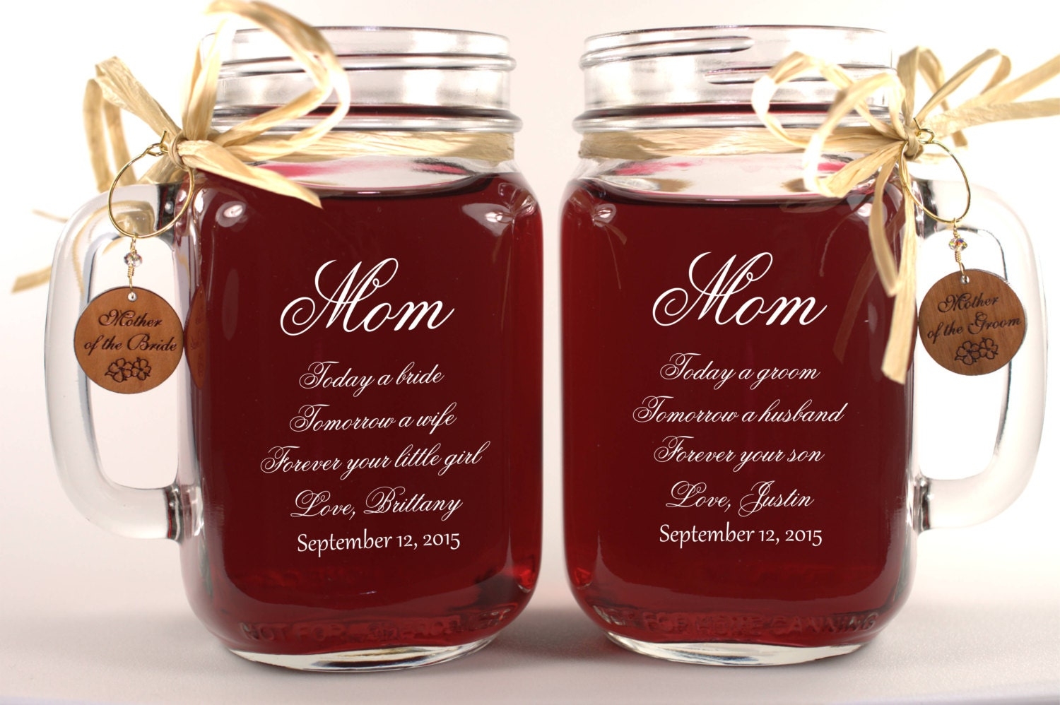 Mom Wedding Gift Mason Jars Mother of the Groom Gift Mother