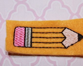 Pencil felties, yellow gold felt set of four for hair accessories, scrapbooking, and crafts