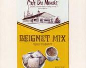 New Orleans Beignets. Original egg tempera illustration from 'The Taste of America' book.