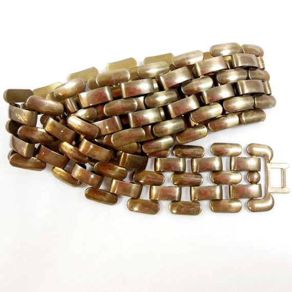 vintage chain mesh chain patina brass jewelry making