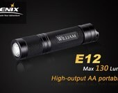 Graduation gift, Gifts for Him, Unique gifts for Men, Fenix E12 LED Personalized Flashlight, Junior Groomsman, Anniversary gifts, Birthday
