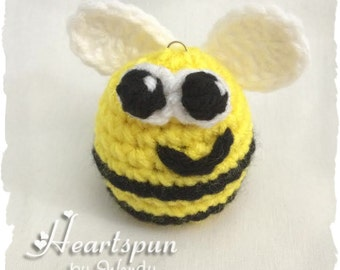 Bumble Bee EOS Lip Balm Holder.  Hand crocheted. Will fit eos or similar size lip balms.  Lip balm NOT included.