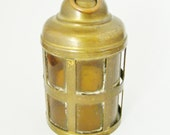 Antique Victorian Christmas tree lantern candle cover