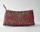 African Palm Leaf Basket Woven Clutch Wallet