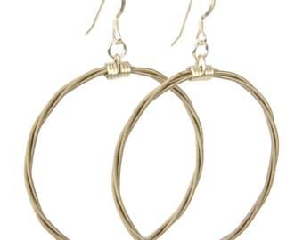 Song Circle Guitar String Earrings Gift for Musician or Music lover
