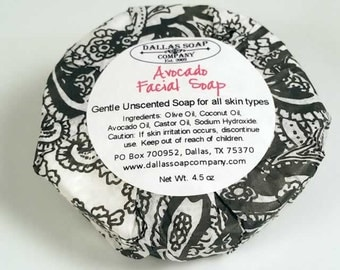 Avocado Face Soap Unscented Fragrance Free