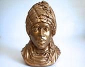 Gold Ceramic Bust
