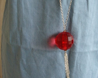 Red Sphere Necklace