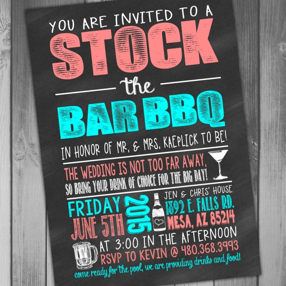 Stock The Bar Invitation Wording as good invitations sample