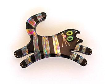 Cat Pin Cat Brooch Handmade Ceramic by Sean Brown