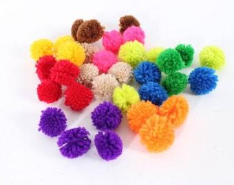 Mixed Color Mini Cotton Pom Poms DIY Material Handmade Hmong Thailand (ACC204-MU)
