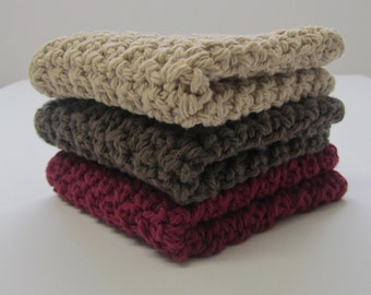 Cotton Crochet Washcloths Dishcloths