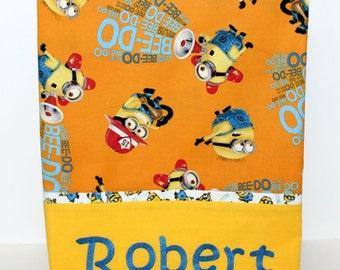 Minion Pillowcase, boys pillowcase,  , Girls Pillowcase, Travel/Toddler, Twin, Queen, King and Body Pillowcase