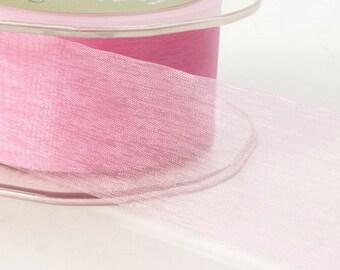 1 Inch Sheer Ribbon By the Yard Lots of Colors DIY Baskets Doll Ribbon Hair Craft Floral