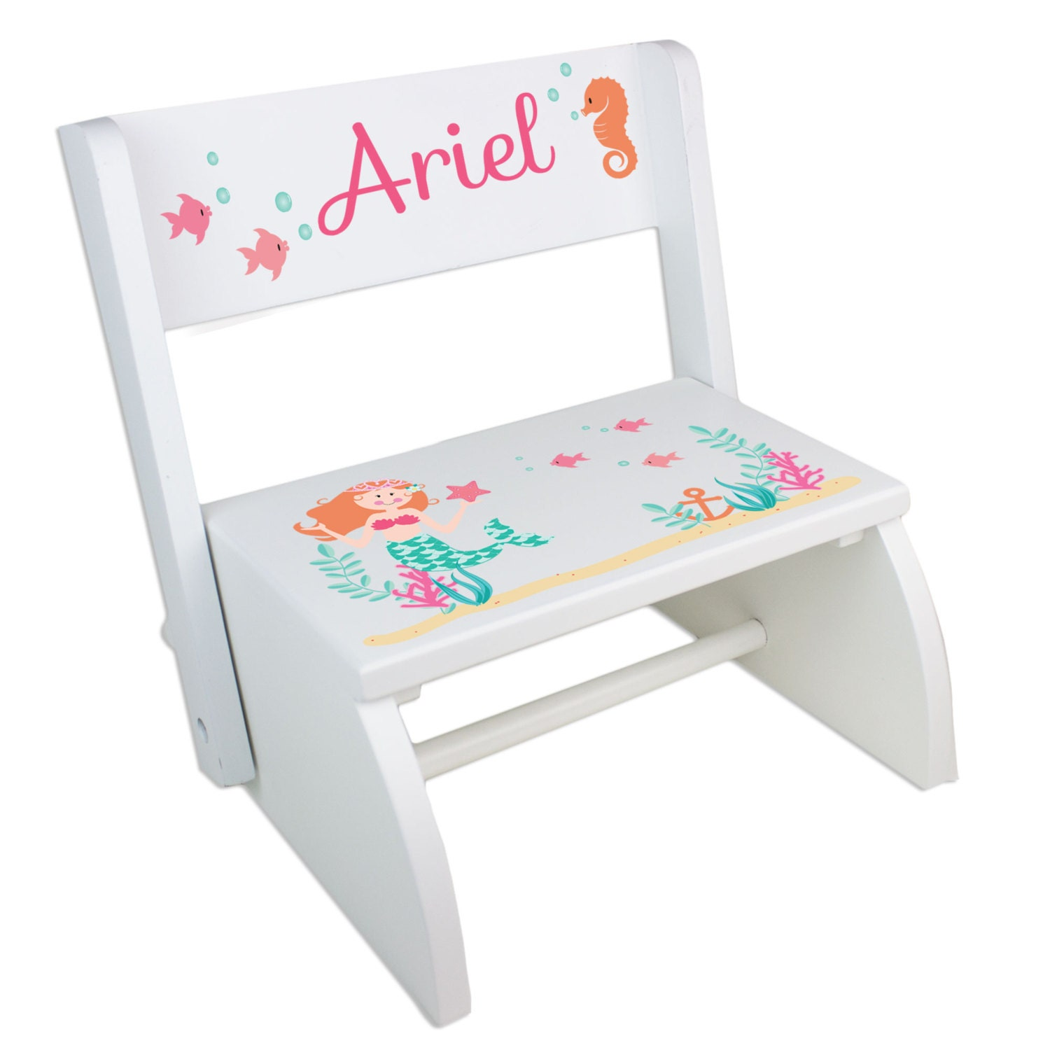 Personalized Children S Mermaid Step Stool For Sea By