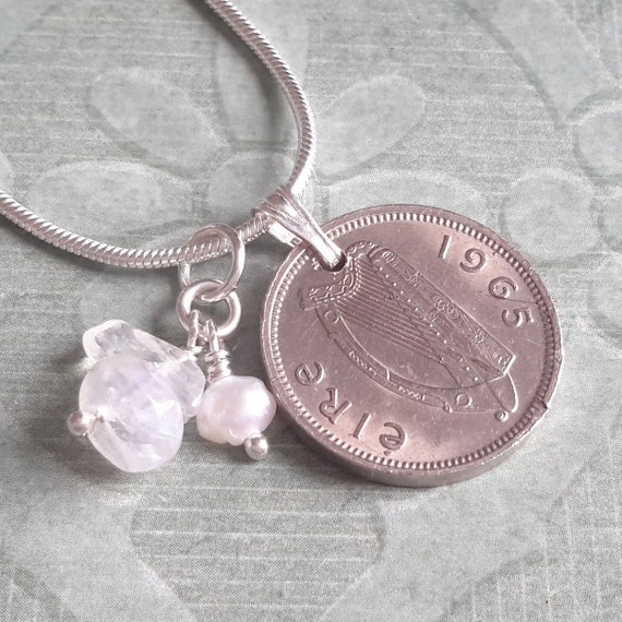 18th Birthday Cz T Bar Sterling Silver Heart Bracelet Can: 50th Birthday Gift Anniversary 1965 Irish By PrenoaJewellery
