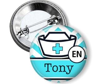 Name button badge Nurse name button badge