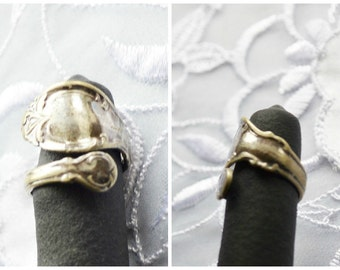 """Vintage Adjustable Spoon Ring, Size 6.5, 1847 Rogers Bros"""", Silver Plated, Collectable Ring, Item No. B024"""
