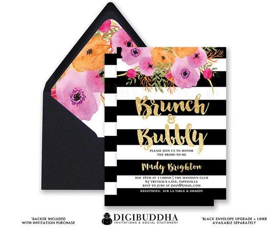 Brunch bubbly invitation bridal shower invite black and white il570xn filmwisefo